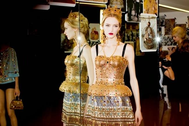 Dolce & Gabbana 2013 AW golden top