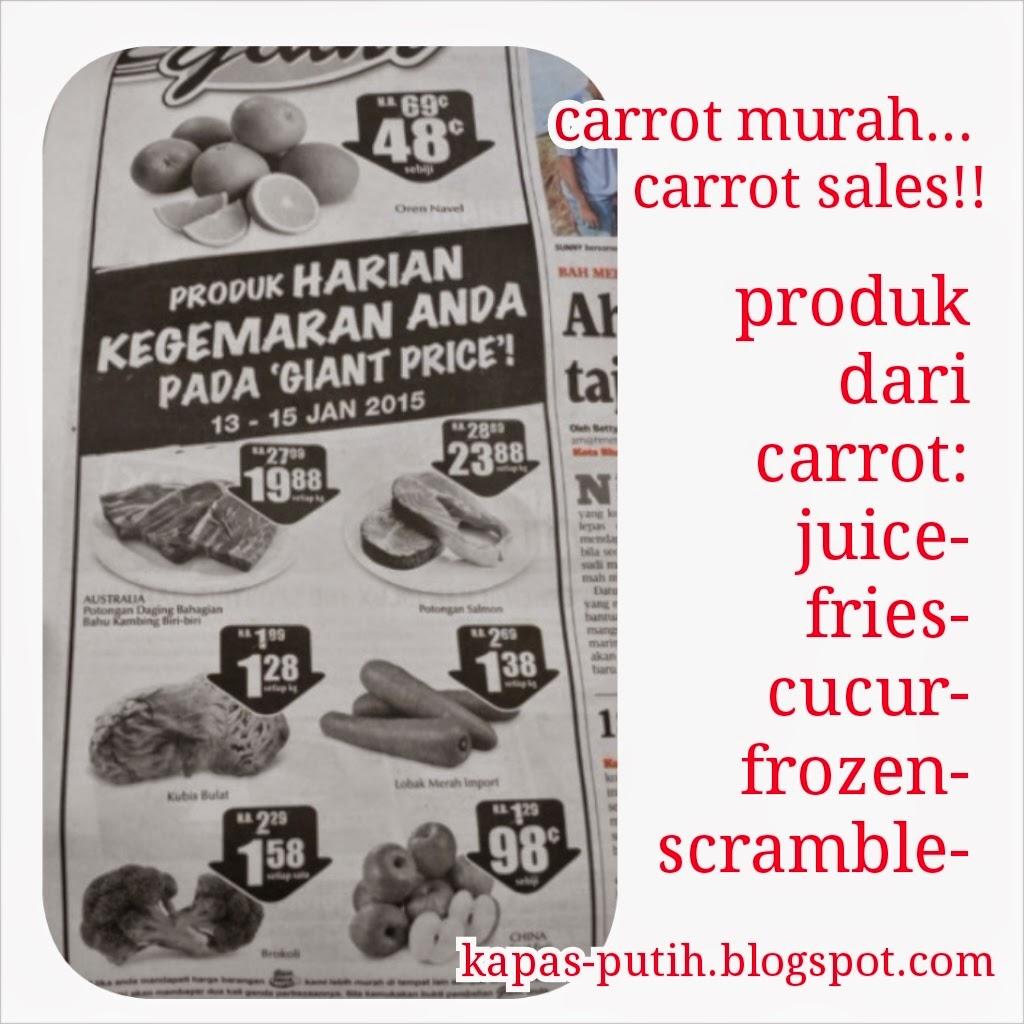 Carrot sales!!! Apa boleh buat dengan carrot?