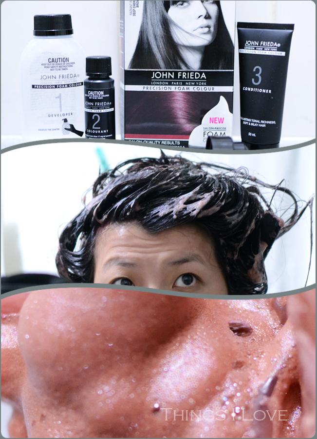 Things I Love Diy Hair Colouring With John Frieda Precision Foam Colour