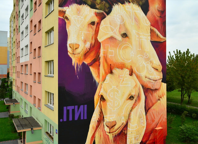 Street Art By Chilean Urban Artist INTI on the streets of Lodz For Fundacja Urban Forms 2013. 4