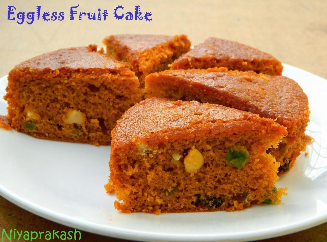 Eggless Fruit Cake Images : Niya s World: Eggless Fruit Cake (with condensed milk ...