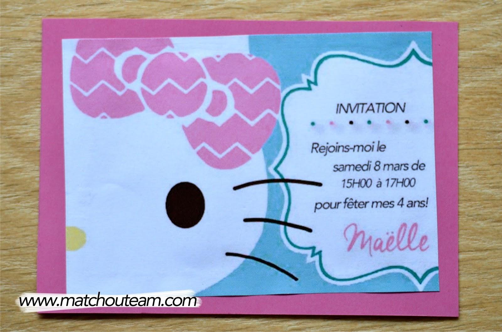 invitation à imprimer
