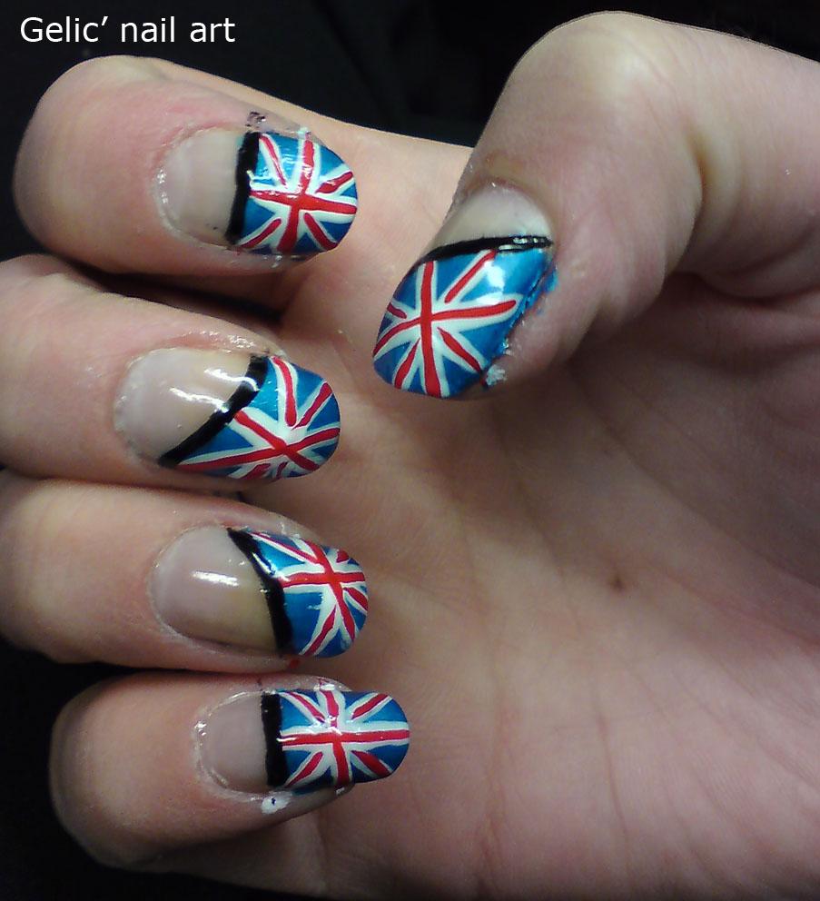 Gelic Nail Art Great Britain Flag Nail Art England Flag Nail Art