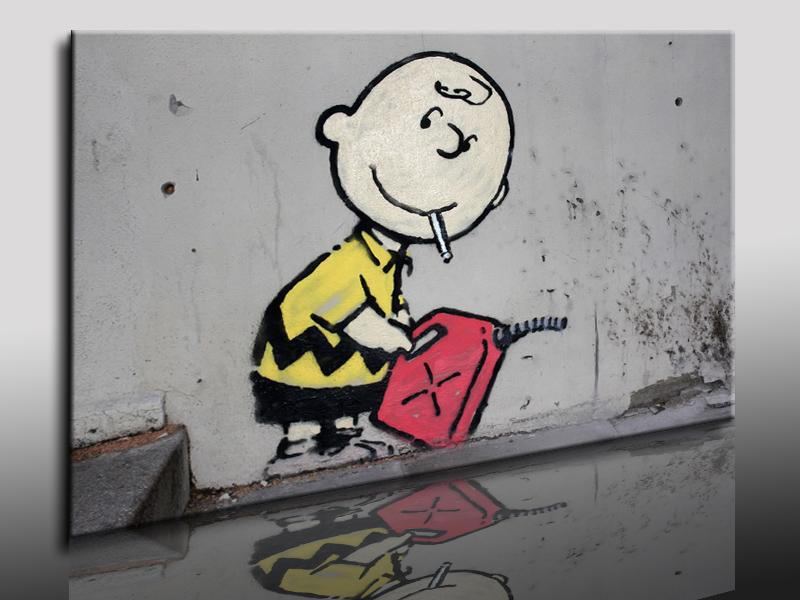 Άλλο ένα συχνό μοτίβο στα έργα του banksy