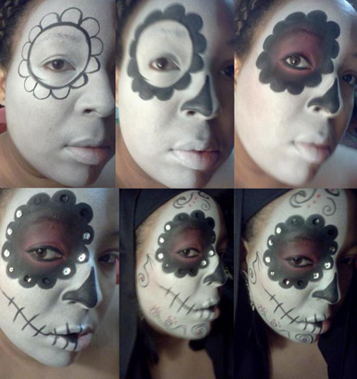 Sincerely Renay Day Of The Dead Makeup - How-to-do-day-of-the-dead-makeup