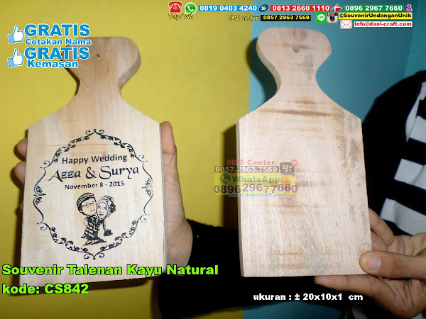 souvenir talenan kayu natural CS842