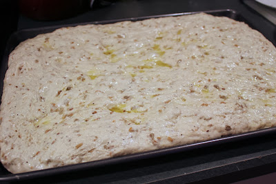 Dough for seeded focaccia