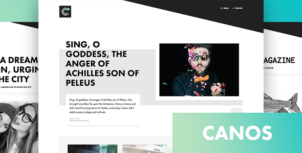 Download Free Canos v1.2 – A Creative WordPress Blog Theme