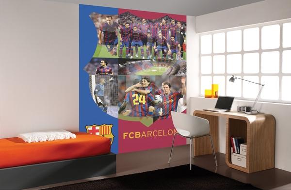 Papel pintado fotomurales futbol club barcelona for Fotomurales para recamaras