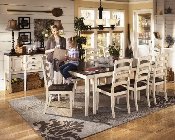 Ashley furniture cottage retreat dining room set for Cottage retreat ii