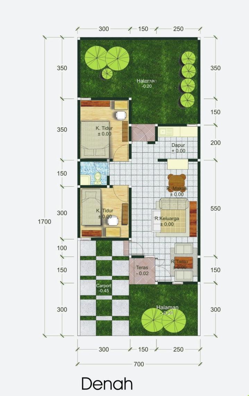 7 Denah Rumah Minimalis 2 Lantai Desain Denah Rumah Kecil Tipe 27