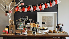 holiday sweet table idea | creativebag.com