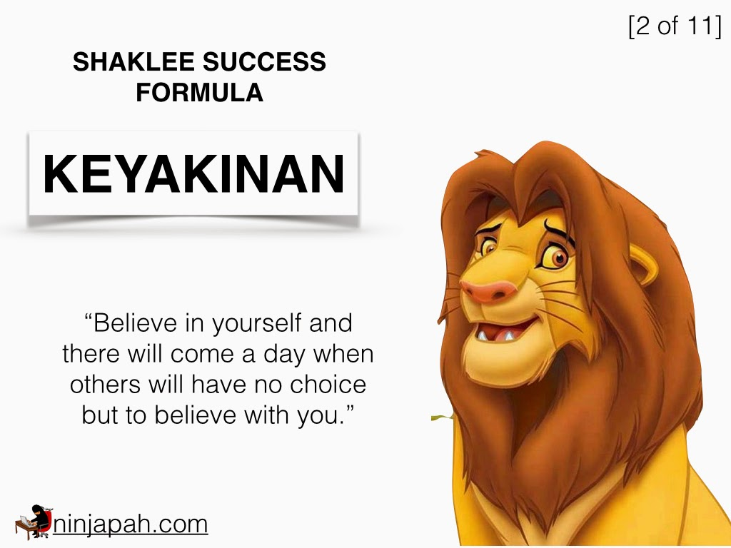 shaklee success formula - keyakinan