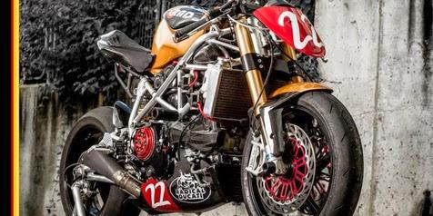 Custom Ducati 1198 SP, fiercely Sang 'Matador Racer' Over legendary Champion