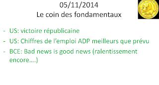 news economiques et boursières 05/11/2014