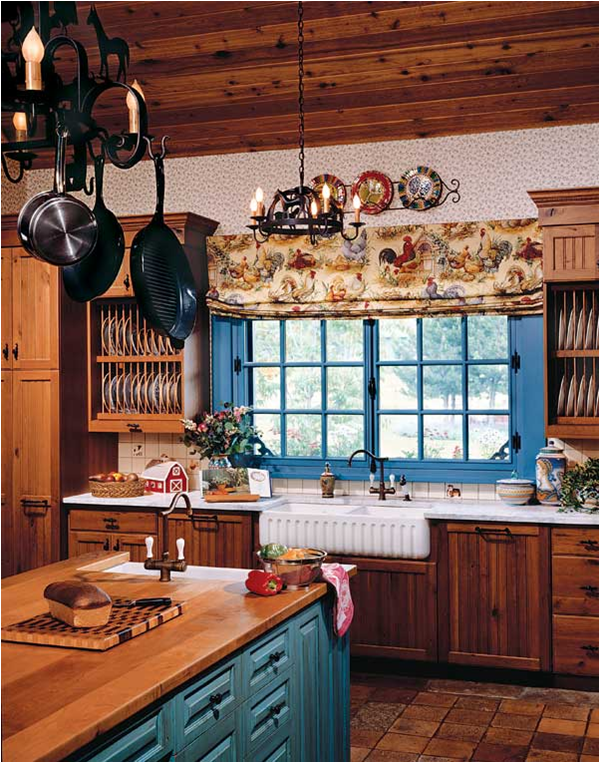 50 country kitchen ideas home decorating ideas for Small country kitchen ideas