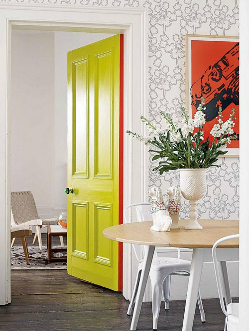 I\u0027m in love and thinking I might be tackling every door in my home this weekend . & Peonies + Brass: colour pop: painting door edges