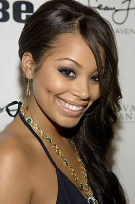 Lauren London With Blonde Hair | Short Hairstyle 2013