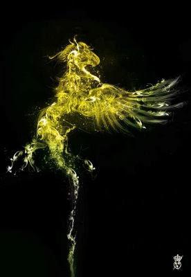 Ilusión con humo refleja un pájaro