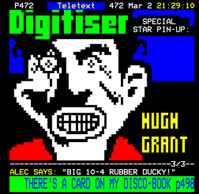 Digitiser - Special Star Pin-up: Hugh Grant