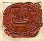 wax seal on stock certificate