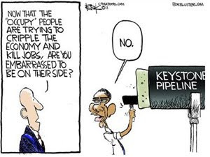 Barack Obama, Destroying Jobs, Keystone Ppeline, Occupy Movement