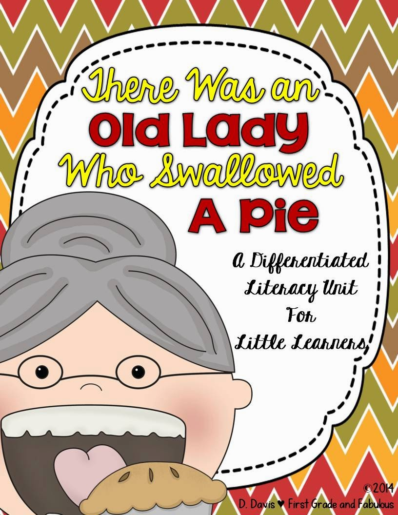 Old Lady Swallowed a Pie-First Grade and Fabulous