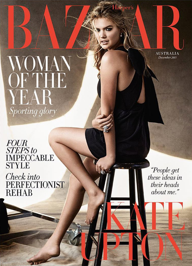 Kate Upton covers Harper's Bazaar Australia December 2015