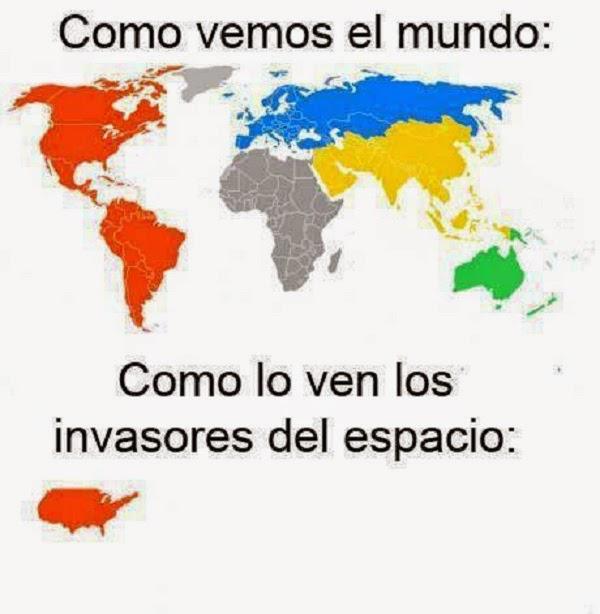 Como ven el mundo los invasores