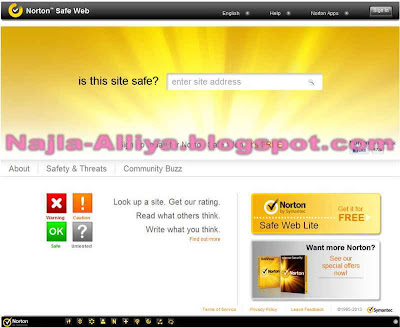 Cara Mengecek Keamanan Website Norton Safe Web