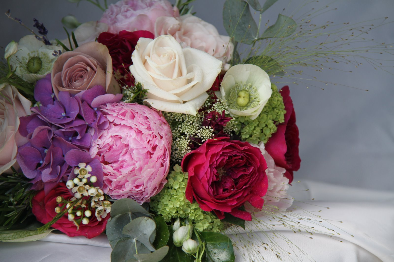 The Flower Magician: English Summer Fete Wedding Bouquet