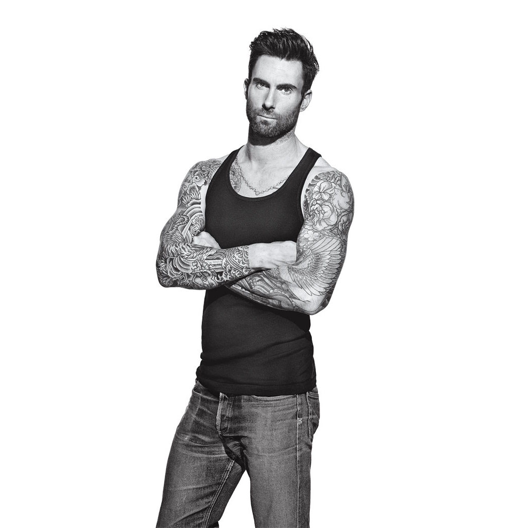 Adam Levine é capa da edição de março da Men's Fitness. Foto: Peter Yang