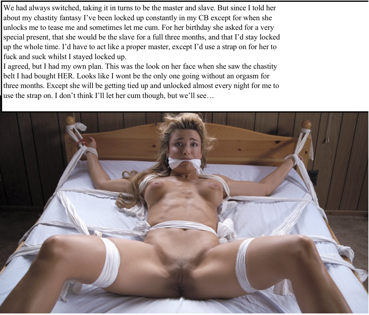 Can women chastity bondage caption speaking, opinion