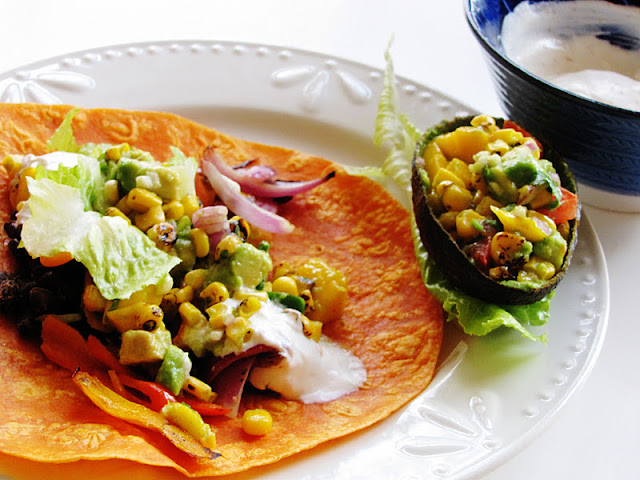 themustardseed.....: Spicy black bean wrap with mango, avocado and ...