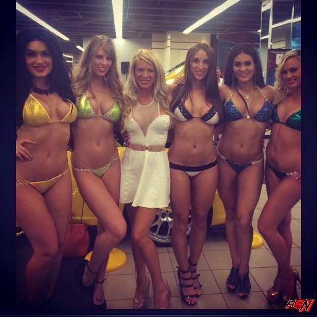 Ashley Massaro Hanging Out with Some Bikini Babes.