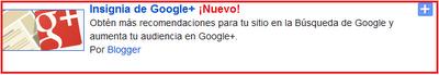 Nuevo gadget de insignia de google en blogger