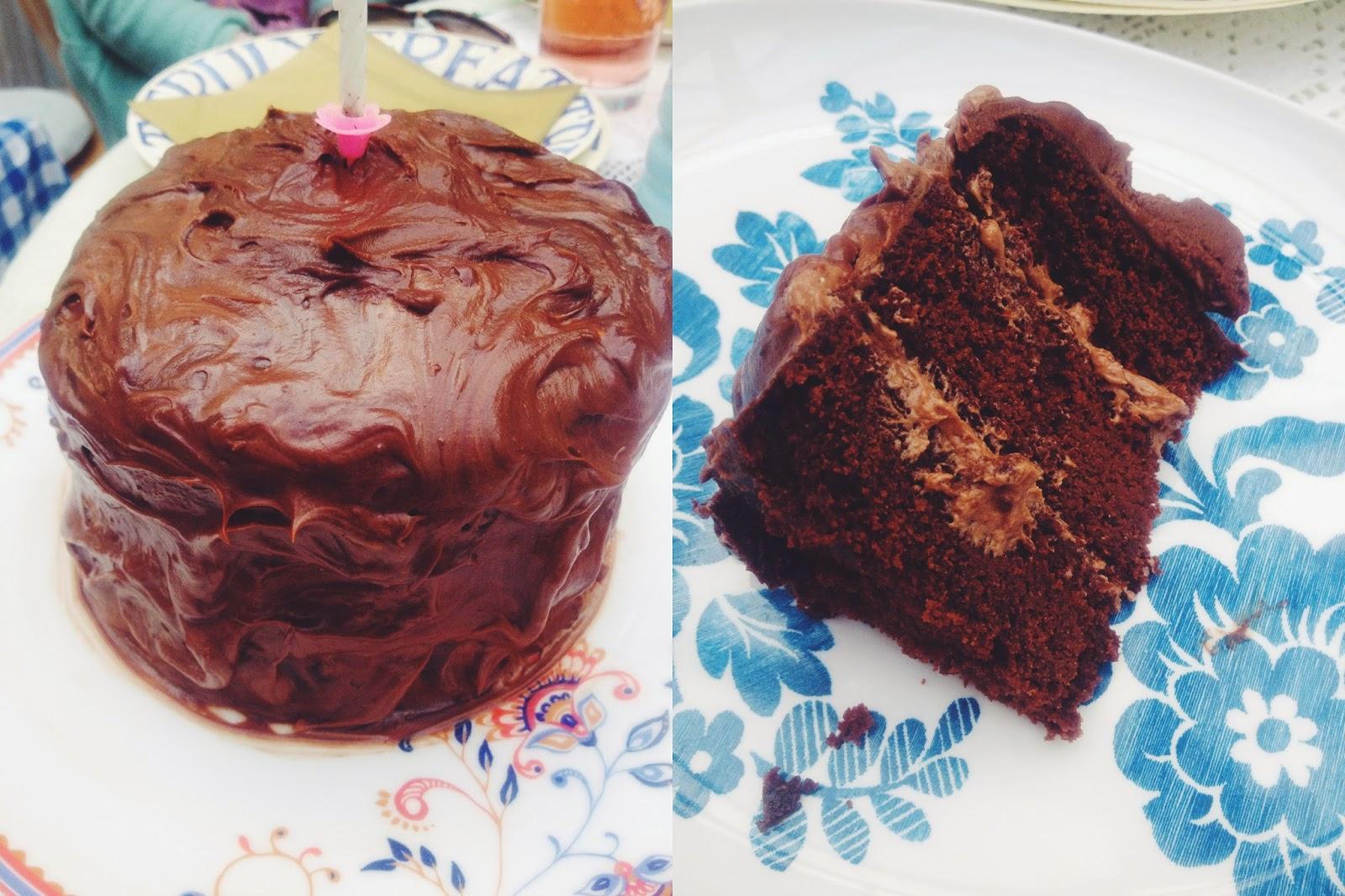 FOOD : VEGAN CHOCOLATE BIRTHDAY CAKE - GLUTEN FREE WHEAT FREE