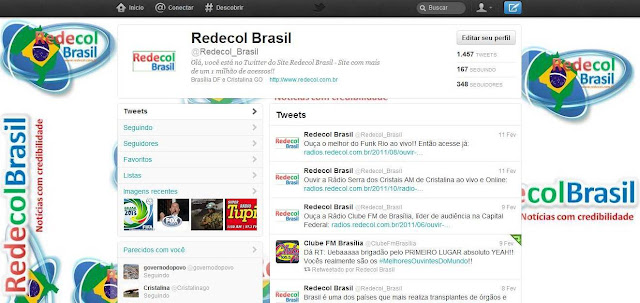 Visual do novo Twitter 2012
