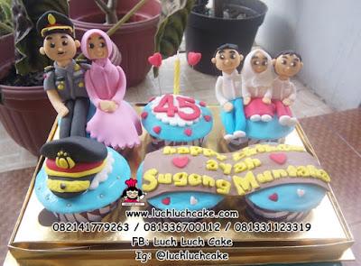 Cupcake Tema Polisi Surabaya - Sidoarjo