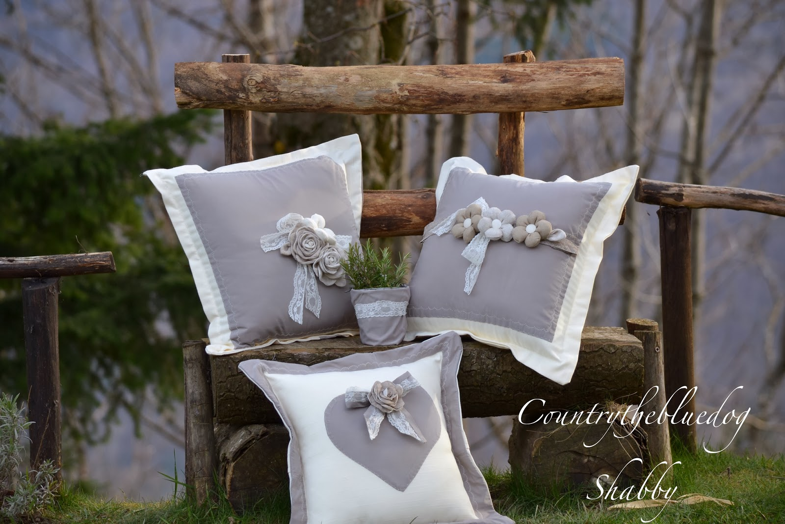 Cuscini shabby chic for Cuscini country chic