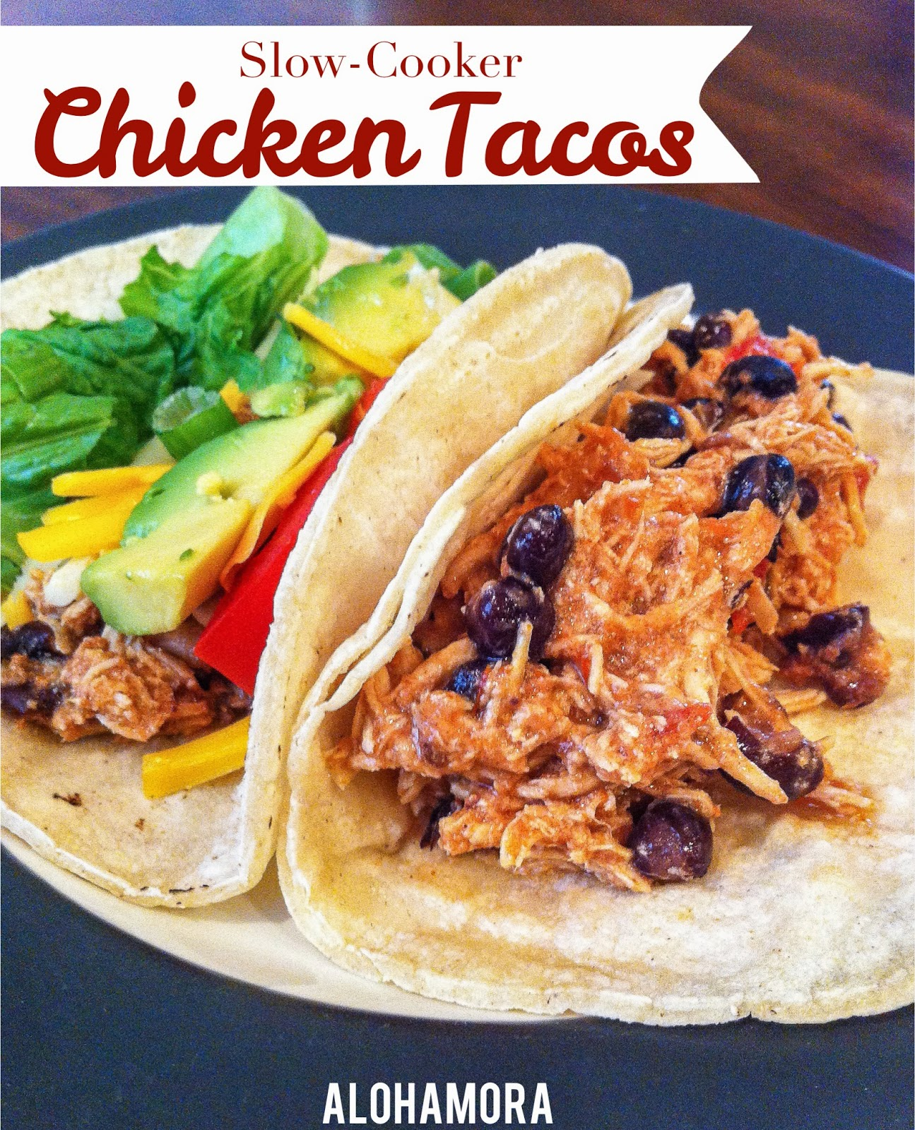 Slow-Cooker/Crock-Pot Chicken Tacos, Nachos, Salad, or more.  Easy and fast to throw together with awesome flavor. Alohamora Open a Book http://www.alohamoraopenabook.blogspot.com/