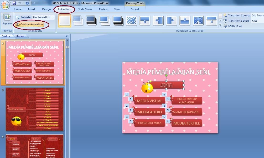 Cara Mudah Menjalankan Tulisan Pada Power Point - Panduan