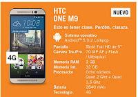 HTC One M9 YOIGO: precios y características