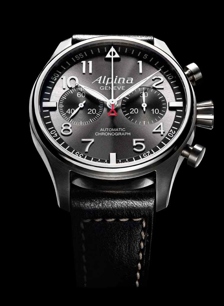 alpina startimer pilot automatic chronograph sunray time and watches. Black Bedroom Furniture Sets. Home Design Ideas