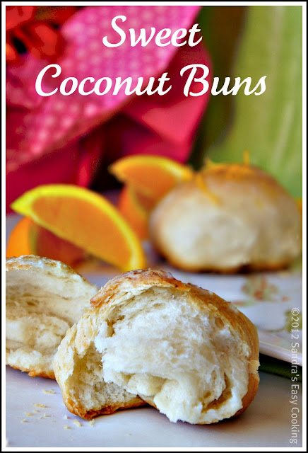 Simple recipe for homemade Sweet Coconut Buns