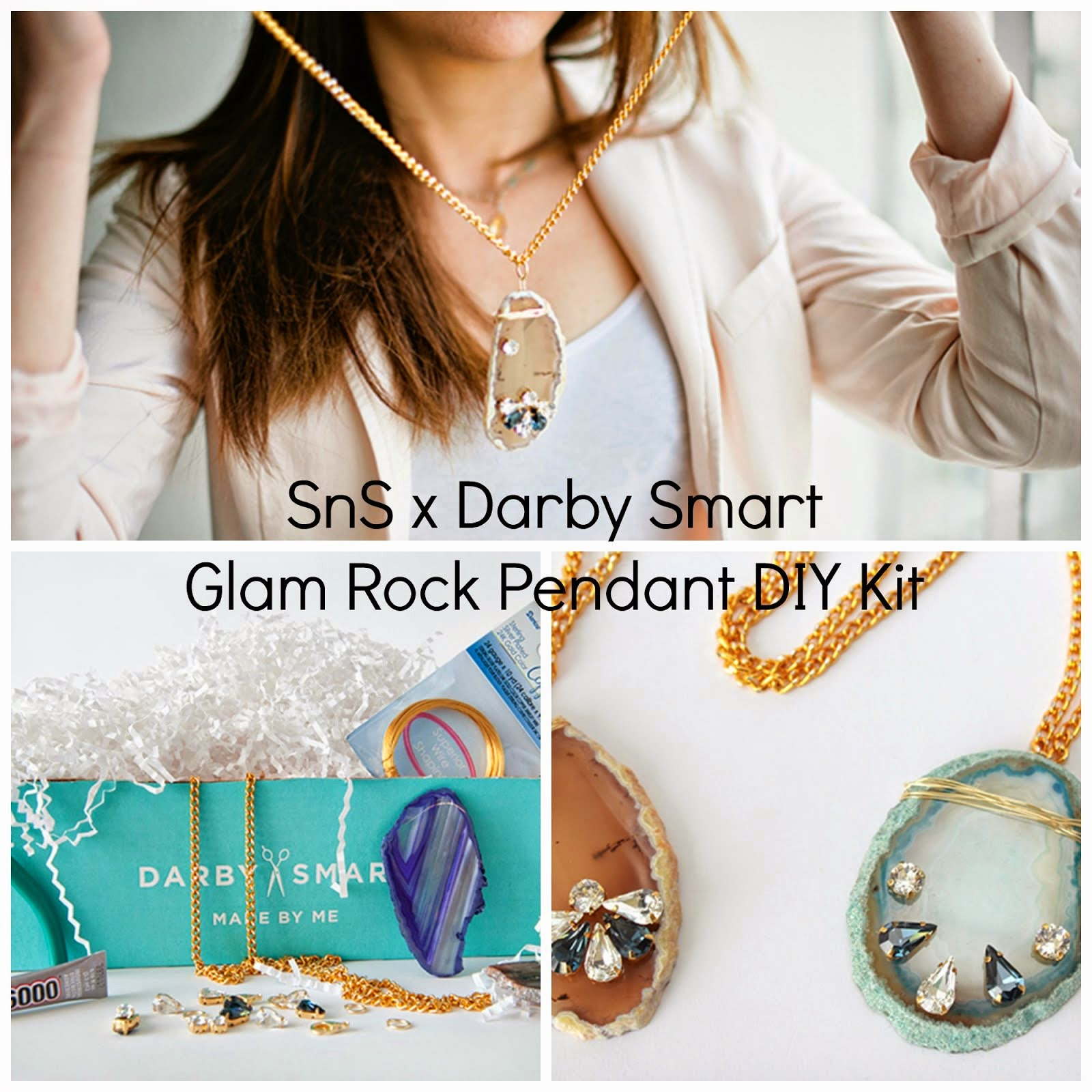 SnS x Darby Smart Glam Rock Pendant DIY Kit