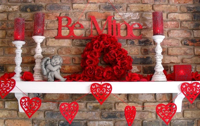 Entrada decorada, San Valentin.