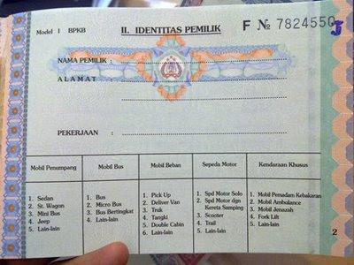 Pinjaman Dana Tunai Jaminan BPKB Motor dan BPKB Mobil