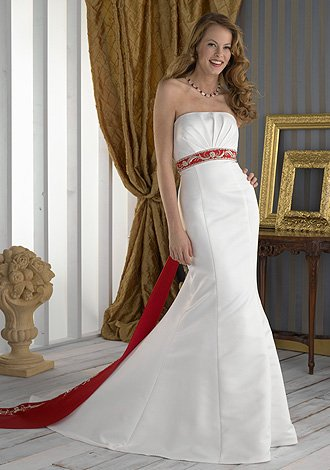 celebrity Gossip: Red And White Wedding Dresses