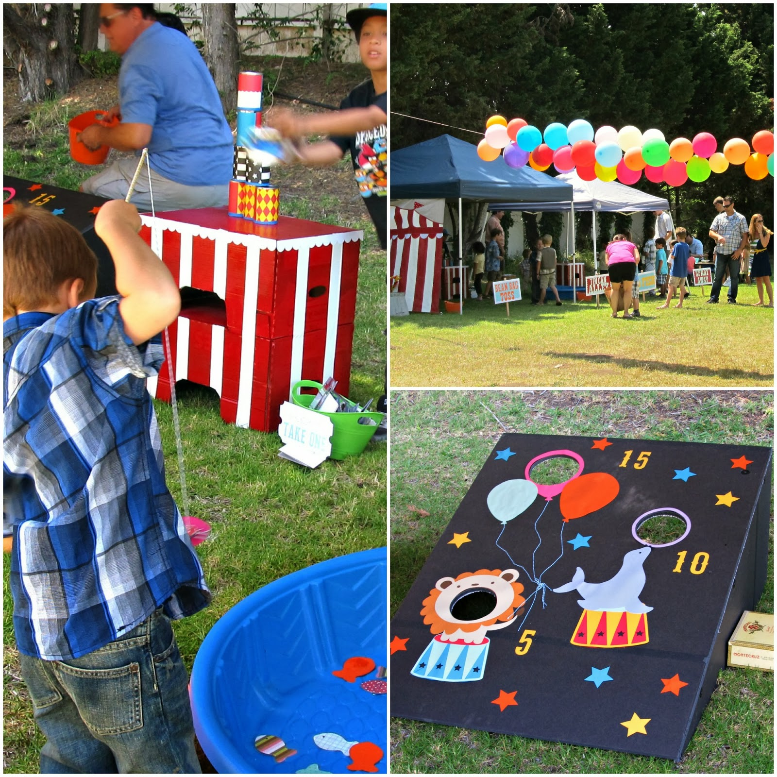 Kids carnival games homemade the image for Kids fishing game
